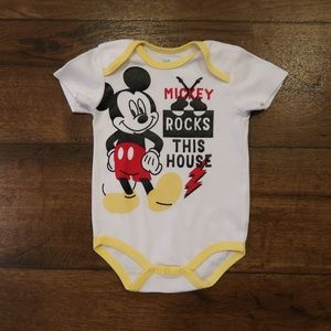Mickey Rocks This House Onesie